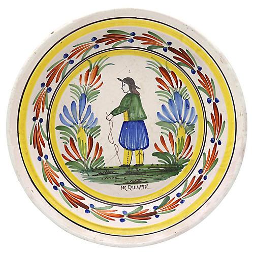 Antique French Quimper Serving Dish