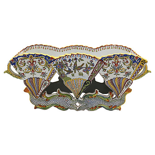 Antique French Faience Jardiniere