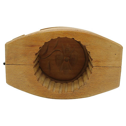 Antique French Hand-Carved Butter Mold