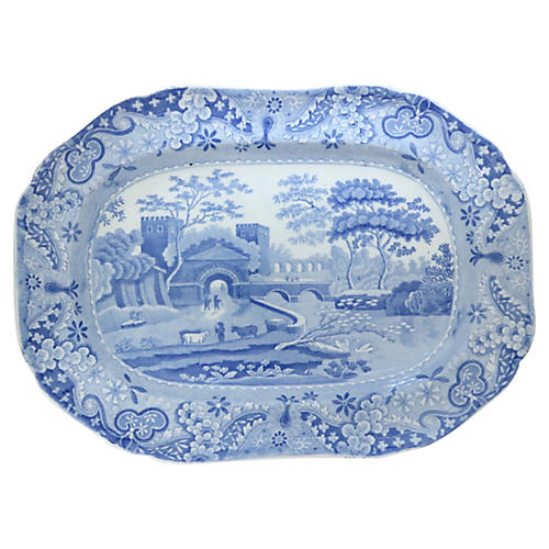 Antique Spode Castle Pattern Platter