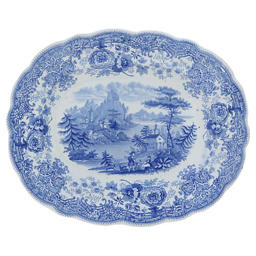 Antique English Transferware Platter