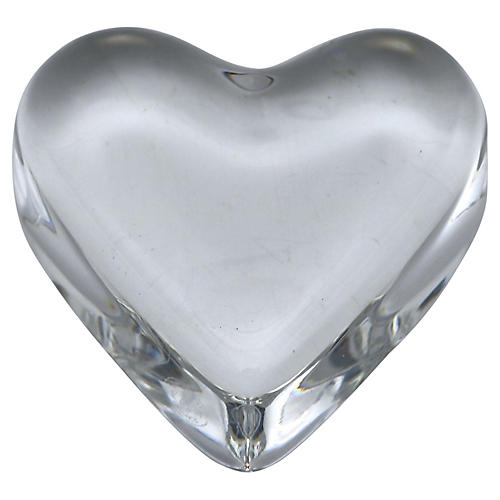 Baccarat Crystal Heart Paper Weight