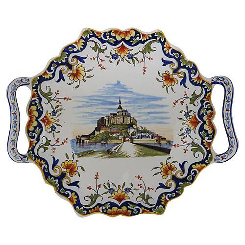 Faience Mont-Saint-Michel Serving Plate