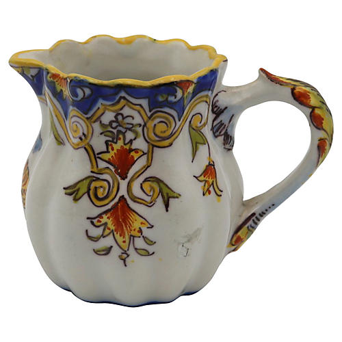 Antique French Faience Creamer