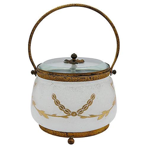 Antique French Ormolu Jewelry Box