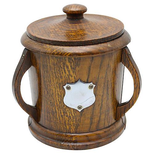 English Oak Art Nouveau Ice Bucket