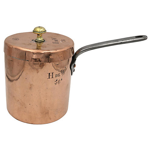 Antique Copper Hotel Ware Pan
