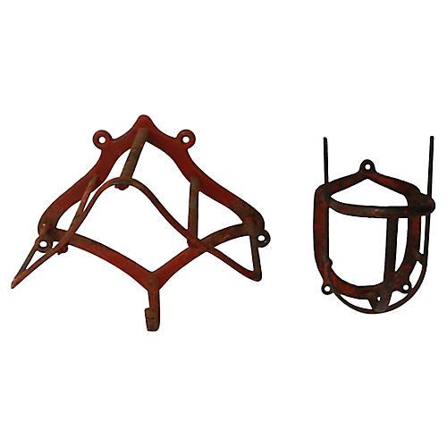 Antique Equestrian Bridle & Tack Racks