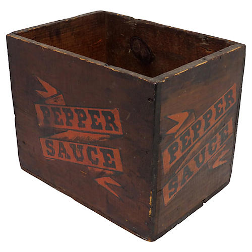 Antique Pepper Sauce Shipping Box