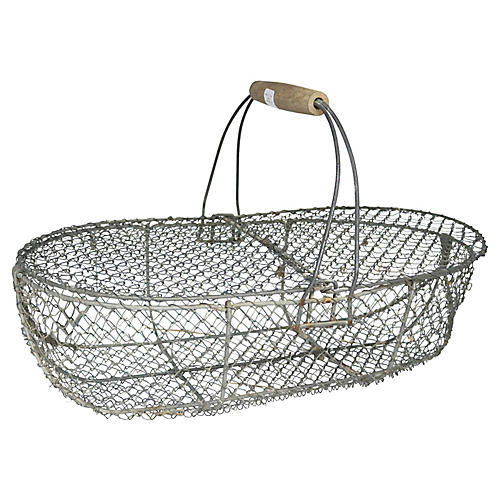 French Oyster Basket w/Covers