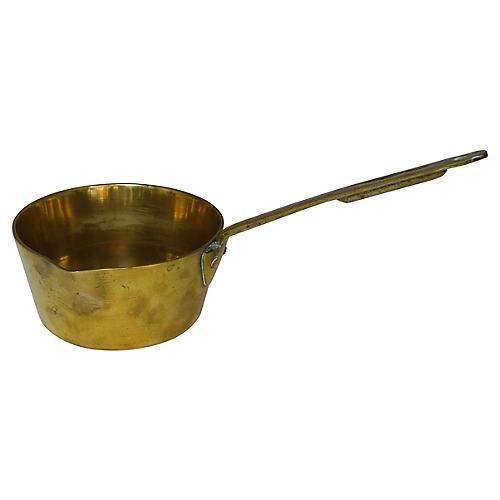 Antique English Brass Sauce Pan