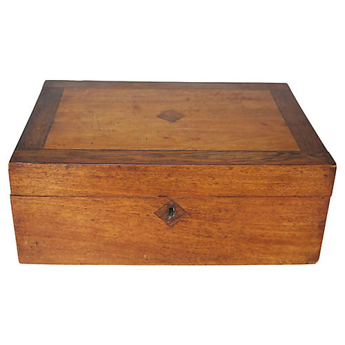 Antique English Jewelry Box