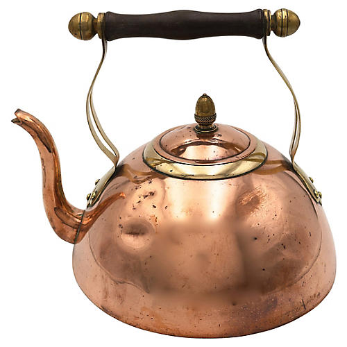 Antique English Copper/Brass Tea Kettle