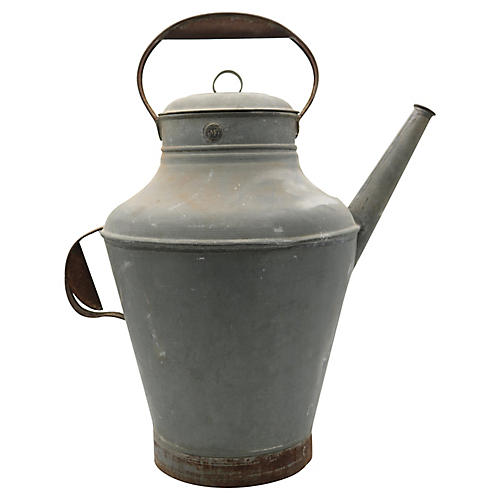 Large French Galvanized Watering Can