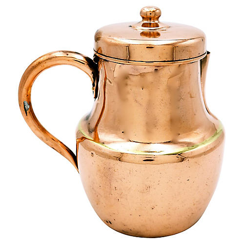 Antique English Copper Hot Water Pot