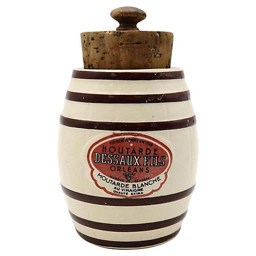 French Mustard Pot w/ Original Cork