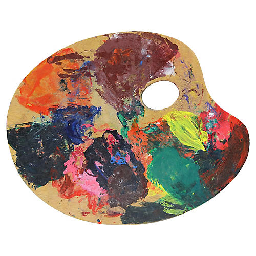 French Artisit Oil Paint Palette