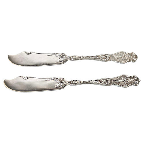 Sterling Butter/Patè Knives, Pair