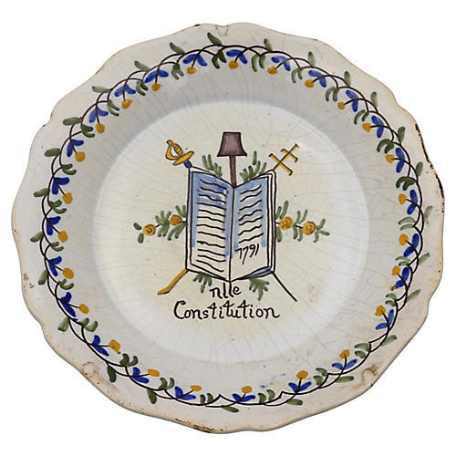 French Revolution Patriotic Wall Plate