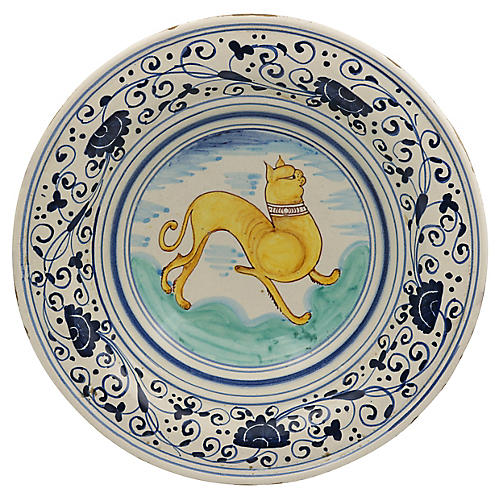 French Faience Pug Centerpiece Bowl