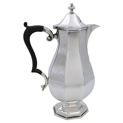 Antique English Silver-Plate Coffee Pot