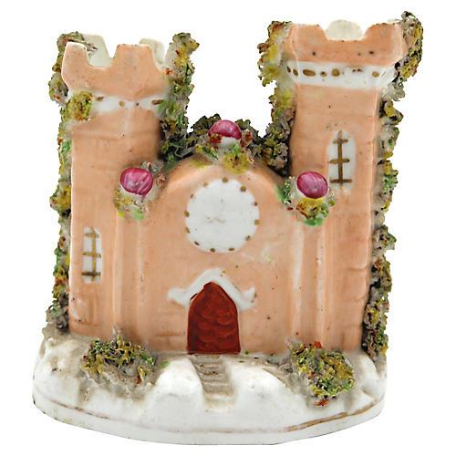 Antique Porcelain Staffordshire Castle