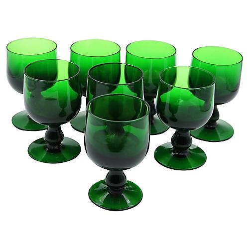 Mid-Century Wine Goblets, S/8