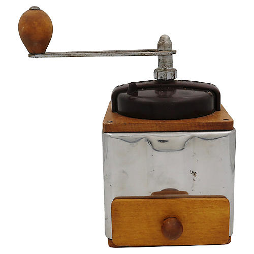 Mid-Century French Coffee Grinder