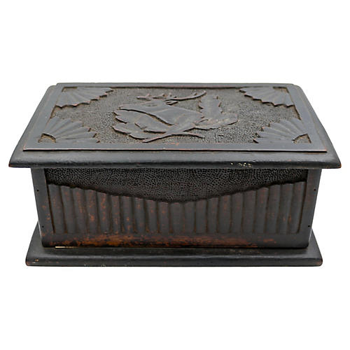Antique Hand-Carved Black Forest Box
