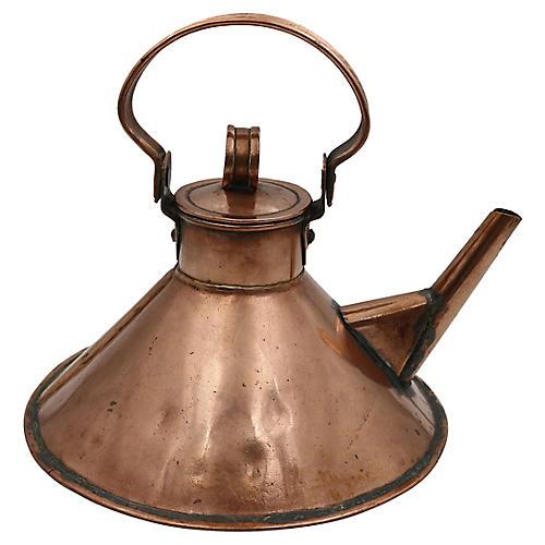 Antique Copper Ship/Boat Tea Kettle