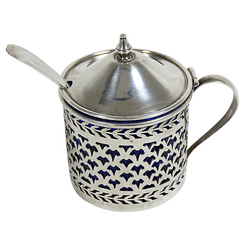 Antique Sterling Silver Mustard Pot