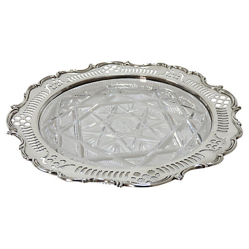 Antique Sterling Silver Wine Coaster