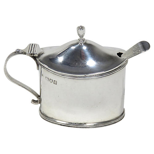 Antique English Sterling Mustard Pot