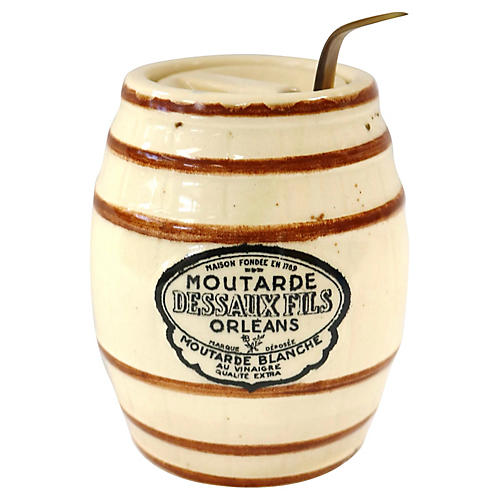 French Mustard Pot w/ Spoon