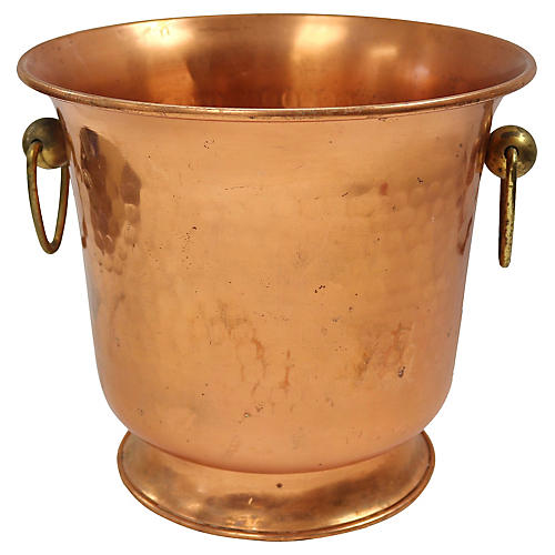 French Hammered Copper Champagne Bucket