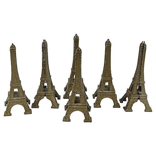 Eiffel Tower Placecard/Menu Holders, S/6