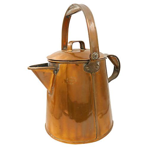 Oversized Antique Copper Watering Can