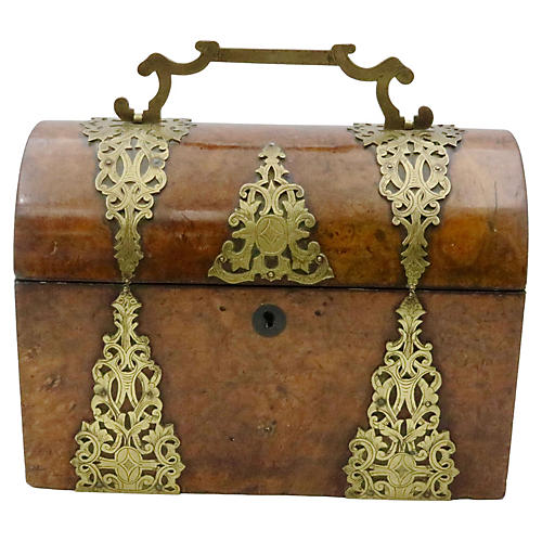Antique English Dome Top Tea Caddy