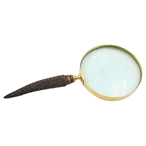 English Horn Handled Magnifying Glass