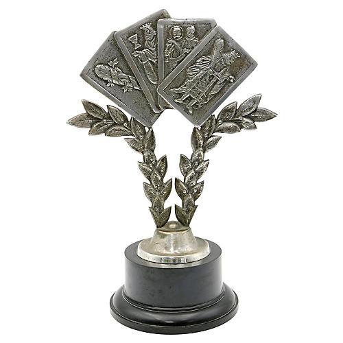English Playing Card Trophy