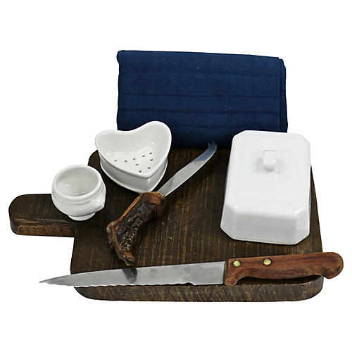 French Charcuterie Set, 7 Pcs