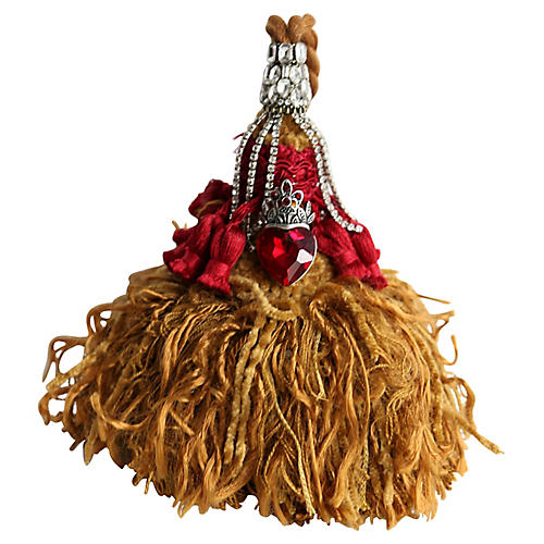 French Tassel w/ Crown Ornament