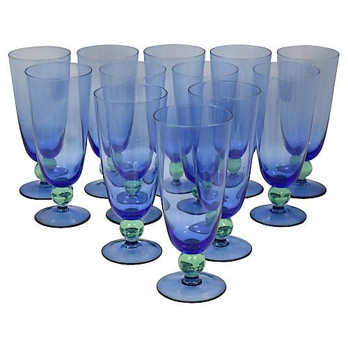 Mid-Century Beer/Iced Tea Glasses, S/12