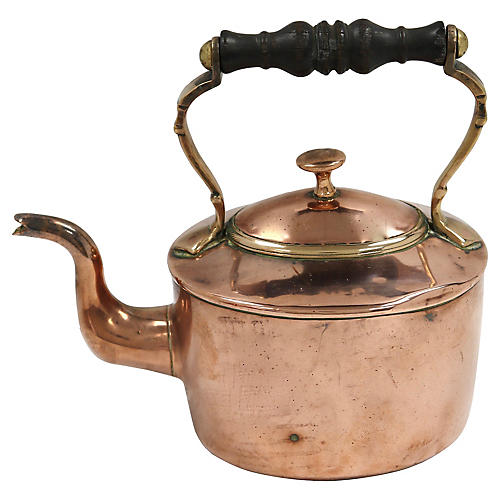 Antique English Copper Kettle