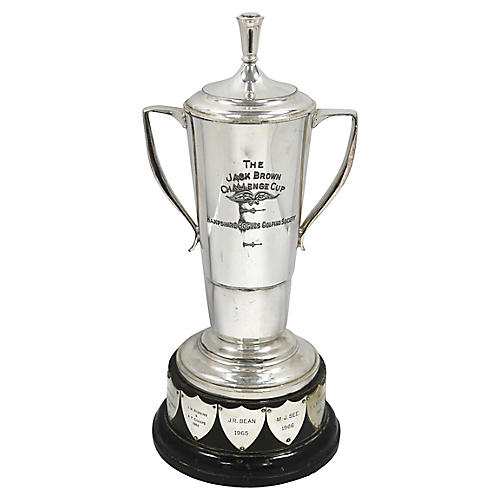 English Silver-Plate Golfing Trophy