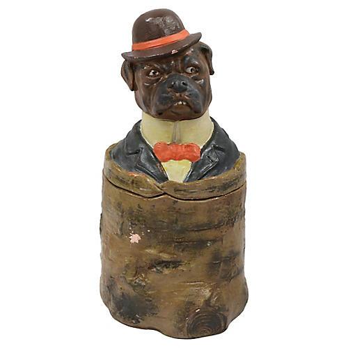 Antique German Bull Dog Tobacco Jar