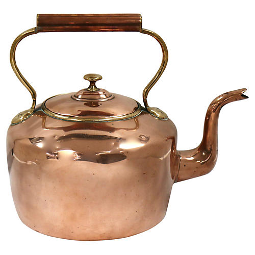 Oversized Antique English Copper Kettle
