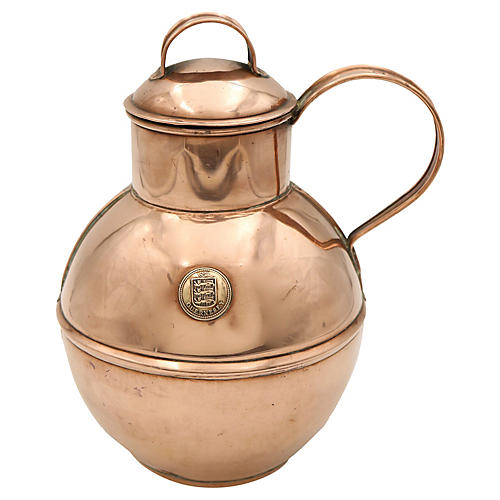 English Copper Guernsey Cream Jug