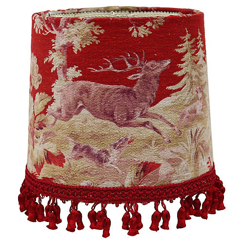 Lampshade w/Antique French Fabric
