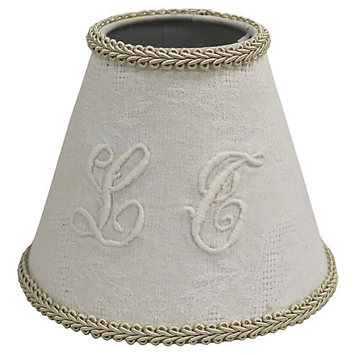 Antique Linen Sconce Shade